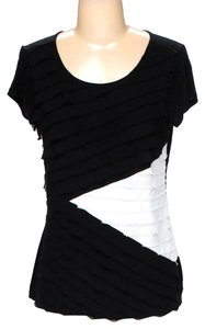 Saks Fifth Avenue Colorblock Two Top black and white