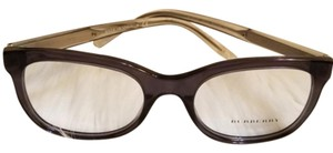 Burberry Women Square Eyeglasses Plastic Frame Demo Lens 51mm