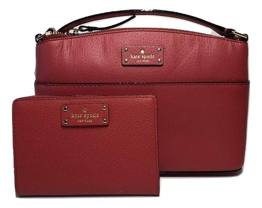 Preload https://img-static.tradesy.com/item/24106695/kate-spade-grove-street-millie-and-matching-tellie-wallet-red-carpet-leather-cross-body-bag-0-0-540-540.jpg