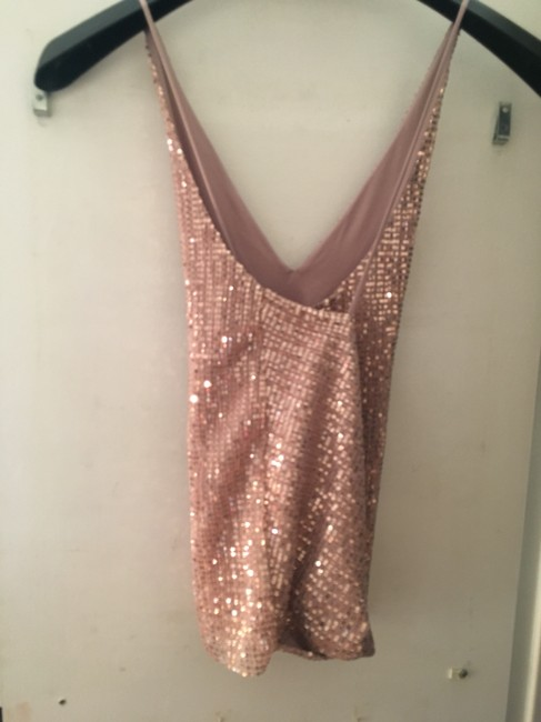 Express Sequin Top Pink Sparkle