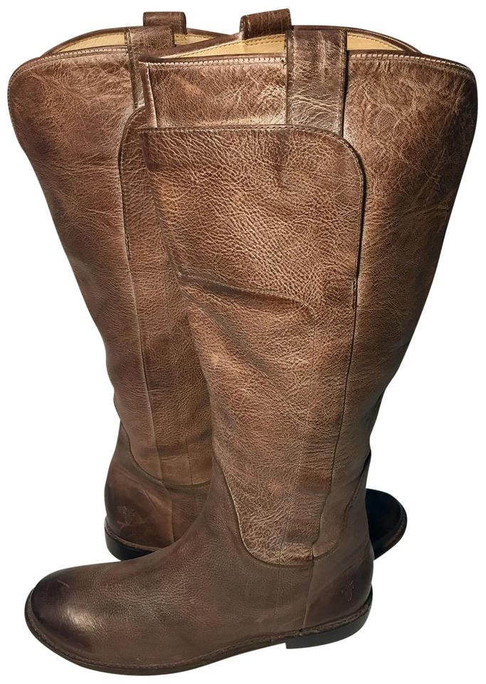 5c2b677ecd9 Frye Brown 77534 Paige Tall Riding Leather Motorcycle Women's Boots/Booties  Size US 9.5 Regular (M, B) 48% off retail