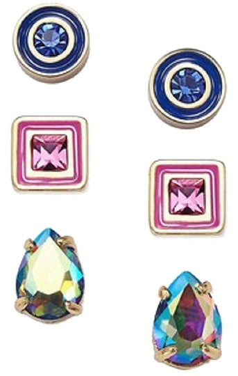 Preload https://img-static.tradesy.com/item/24106726/kate-spade-multicolor-new-tri-tone-3-piece-stud-set-pink-12k-earrings-0-1-540-540.jpg