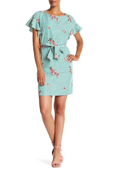 Preload https://img-static.tradesy.com/item/24106733/nine-west-white-and-green-paradise-mid-length-workoffice-dress-size-4-s-0-0-650-650.jpg