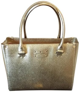Kate Spade Leather Vintage Satchel in Gold