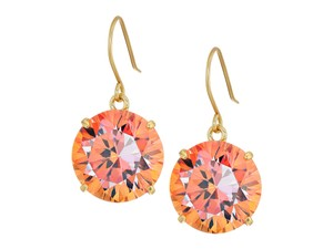 Kate Spade Brand New Kate Spade Shine On Quartz Drop Earrings Coral