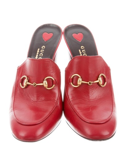 Gucci Princetown Leather Horsebit red Mules