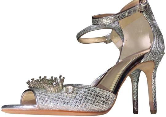 Imagine by Vince Camuto Silvery Shiny Dressy New In Box Dustbag Included Platinum Pumps