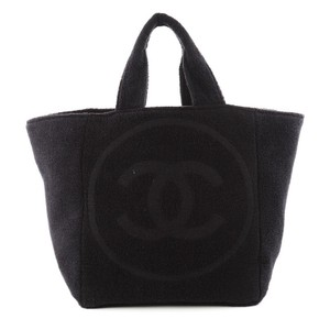 Chanel Terry Cloth Tote in Black