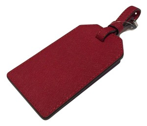 Michael Kors Jet Set Travel Luggage Tag in Red Leather