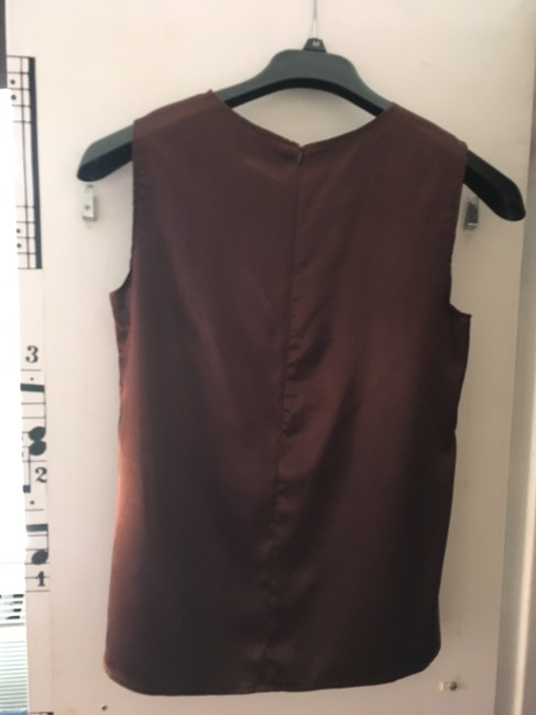 Pineapple Clothing Silk Sash Top Brown