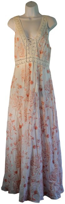 Preload https://img-static.tradesy.com/item/24106849/sadie-and-sage-white-orange-floral-asad0943sc-long-night-out-dress-size-12-l-0-2-650-650.jpg