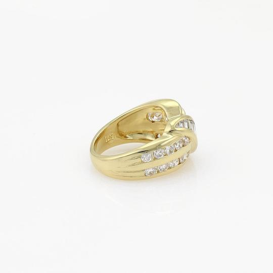 Other 18k Yellow Gold 2 Carats Diamond Fancy 13mm Wide Band Ring