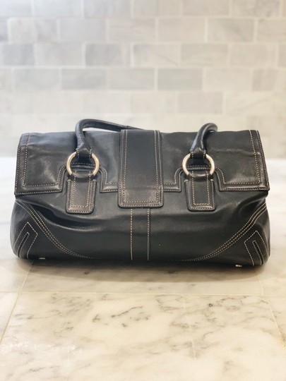 Coach and Four Satchel in Black