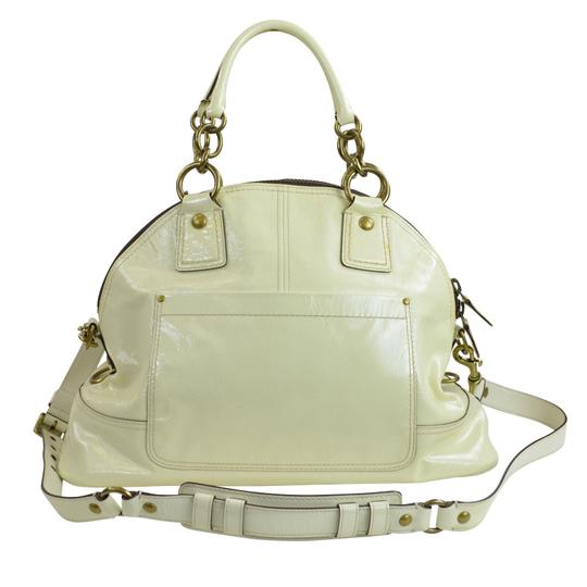 Coach Dome Patent Leather 12295 Satchel in Ivory