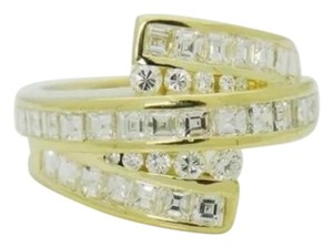 Charles Krypell Krypell 18k Yellow Gold 3.00 carats Princess Diamond Size 6.5 Ring