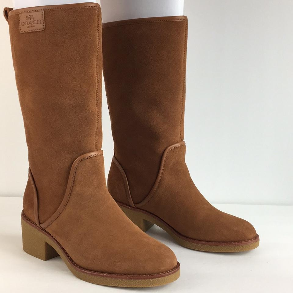 322af3ed26167 Coach Burgundy New Palmer Suede Tall Winter Boots Booties Size US 6 Regular  (M