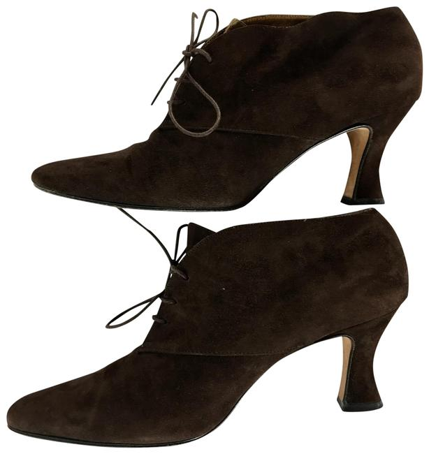 Anne Klein Brown Chocolate Lace Up Suede Pumps Size US 9.5 Regular (M, B) Anne Klein Brown Chocolate Lace Up Suede Pumps Size US 9.5 Regular (M, B) Image 1