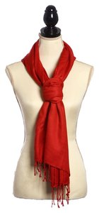 100% Viscose red Viscose Pashmina Solid Color Shawl