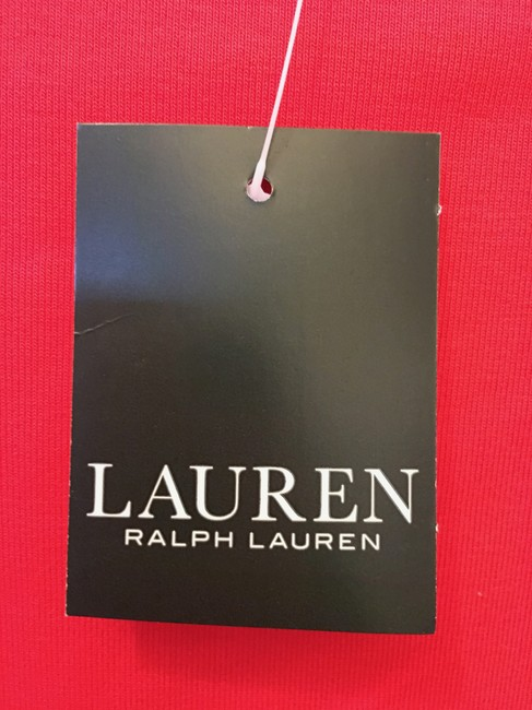 Lauren Ralph Lauren Square Neckline Sleeved Logo Buttons New With Tags T Shirt Red Image 3