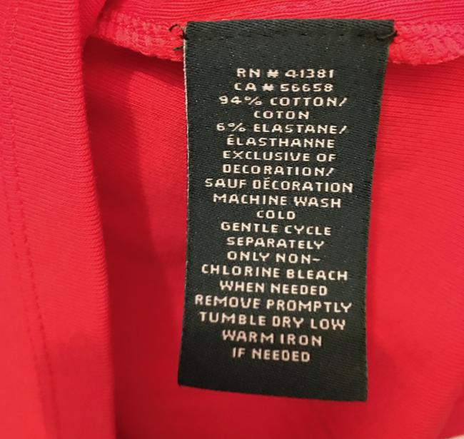Lauren Ralph Lauren Square Neckline Sleeved Logo Buttons New With Tags T Shirt Red Image 6