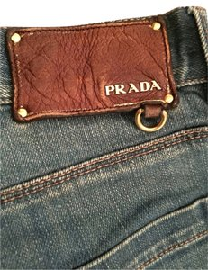 Prada Mens Denim Classic Straight Leg Jeans-Dark Rinse