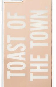 """Kate Spade KATE SPADE Hybrid Snap on case Rose gold """"TOAST OF THE TOWN"""" Iphone 6"""