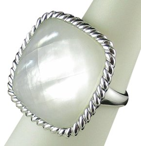 Honora Honora White Mother-0f-Pearl Doublet Cushion Sterling ring