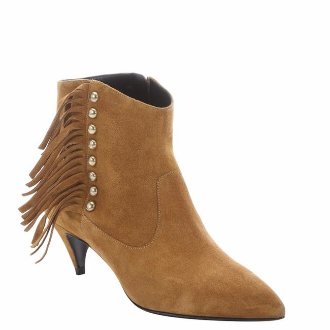Item - Tan Cat Fringed Brown Suede Ankle Boots/Booties Size US 10 Regular (M, B)