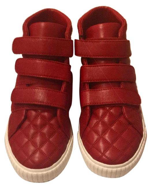 Item - Red New Leather Sneakers Size US 13 Regular (M, B)