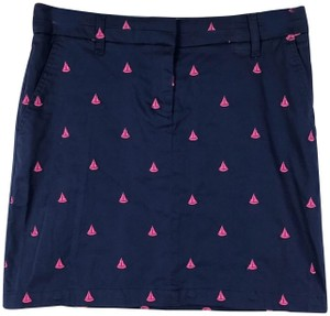 British Khaki Mini Skirt Blue/Pink