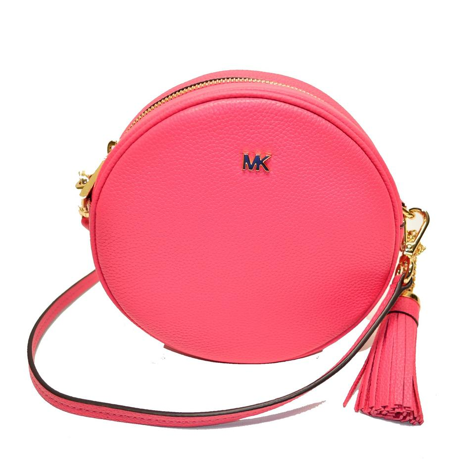 cf98da003300 Michael Kors Med Canteen Rose Pink Leather Cross Body Bag - Tradesy