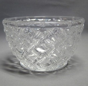 Tiffany & Co. Clear Crystal Bamboo Bowl Decoration