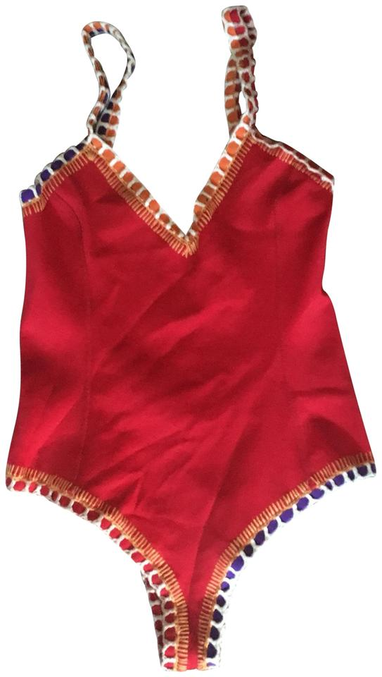 10e82470a99b5 Kiini Red Kaia Scoopback Maillot One-piece Bathing Suit Size 4 (S ...