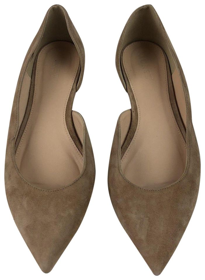 the best attitude 1dd1c 4baf2 J.Crew Beige Audrey Ballerinas Suede Leather D Orsay Pointy Flats Size US  8.5 Regular (M, B) 86% off retail