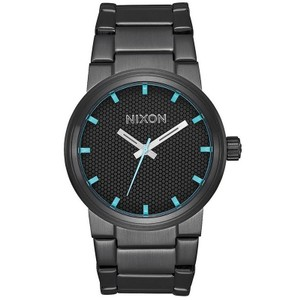 Nixon A160602 Mens Black Steel Bracelet With Black Analog Dial Genuine Watch