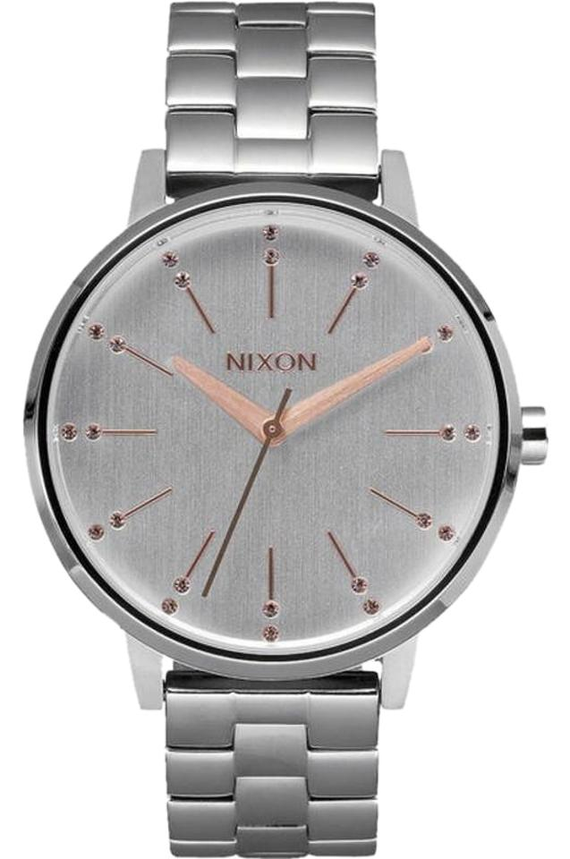 Nixon A0992701 Womens Silver Steel Bracelet With Off White Analog Dial Watch  ... 43fd0e006