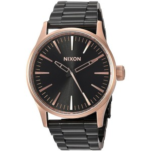 Nixon A4502481 Women's Black Steel Bracelet With Black Analog Dial Watch