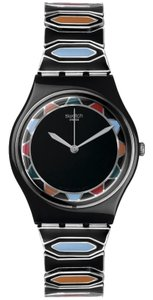 Swatch GB282A Men's Black Plastic Band With Black Analog Dial Genuine Watch