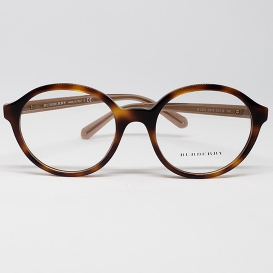 7164ad08b3a3 Burberry Women Round Plastic Frame with Demo Lens Eyeglasses Image 6.  1234567