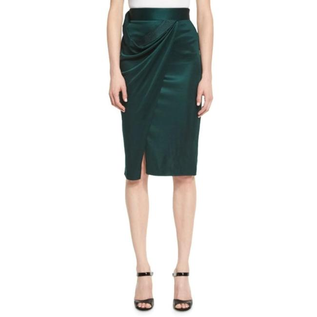 Item - Emerald Drape Skirt Size 4 (S, 27)