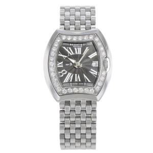 Bedat & Co Diamond Bezel Black Roman Dial Steel Ladies Watch No.3 334.031.301