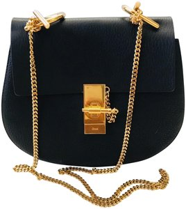 Chloé Classic Gold Hardware Calfskin Leather Suede Cross Body Bag