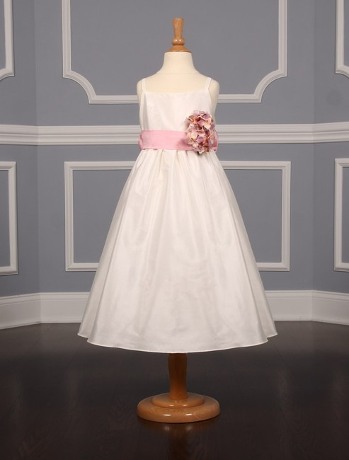 Item - Ivory and Pink 276l Flower Girl Dress