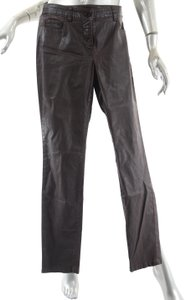 W by Worth Faux Leather Casual 5 Pocket Trouser Pants Brown
