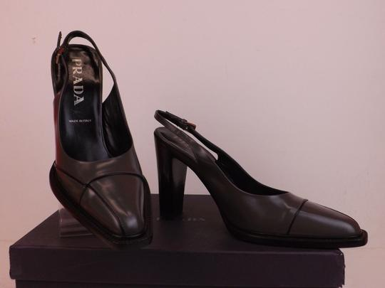 Prada Grey Pumps Image 5