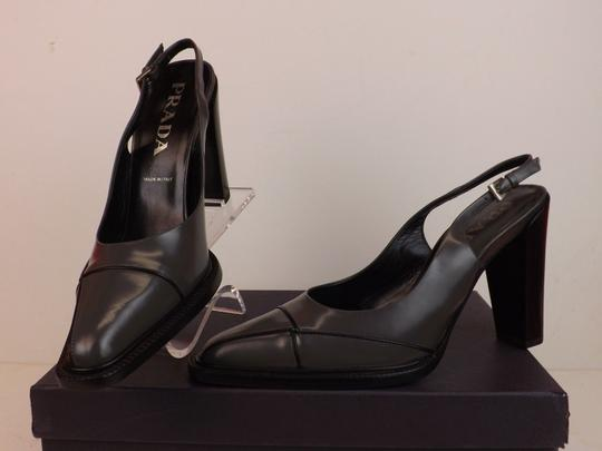 Prada Grey Pumps Image 6