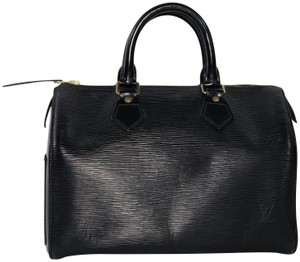 Louis Vuitton Speedy Speedy Epi Leather Top Handle Satchel in Black