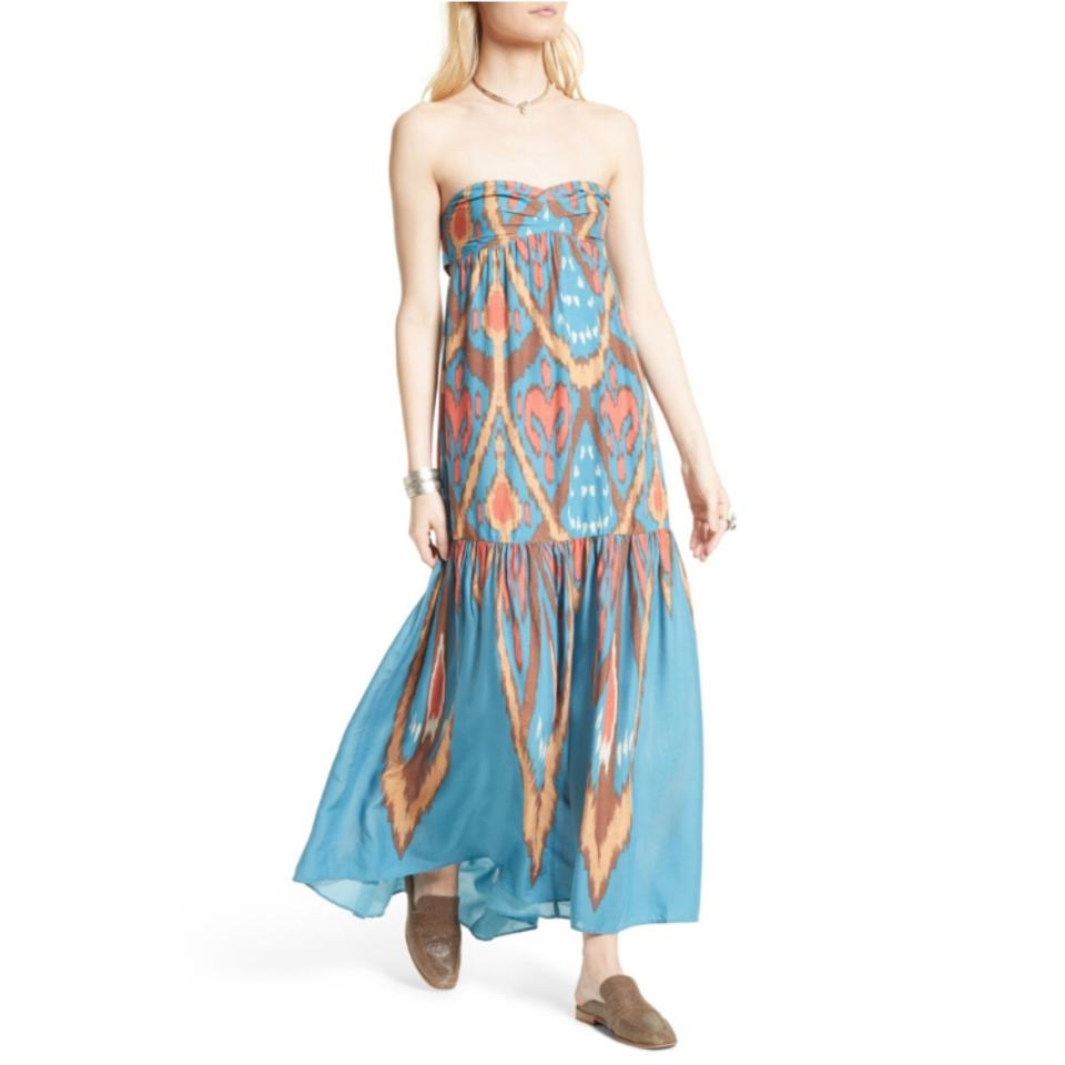 1c970cd32 Free People Multicolor Mohave Strapless Western Long Casual Maxi ...