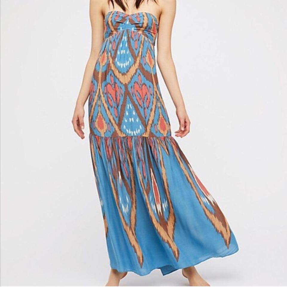 128190f2e Free People Multicolor Mohave Strapless Western Long Casual Maxi Dress Size  8 (M) - Tradesy