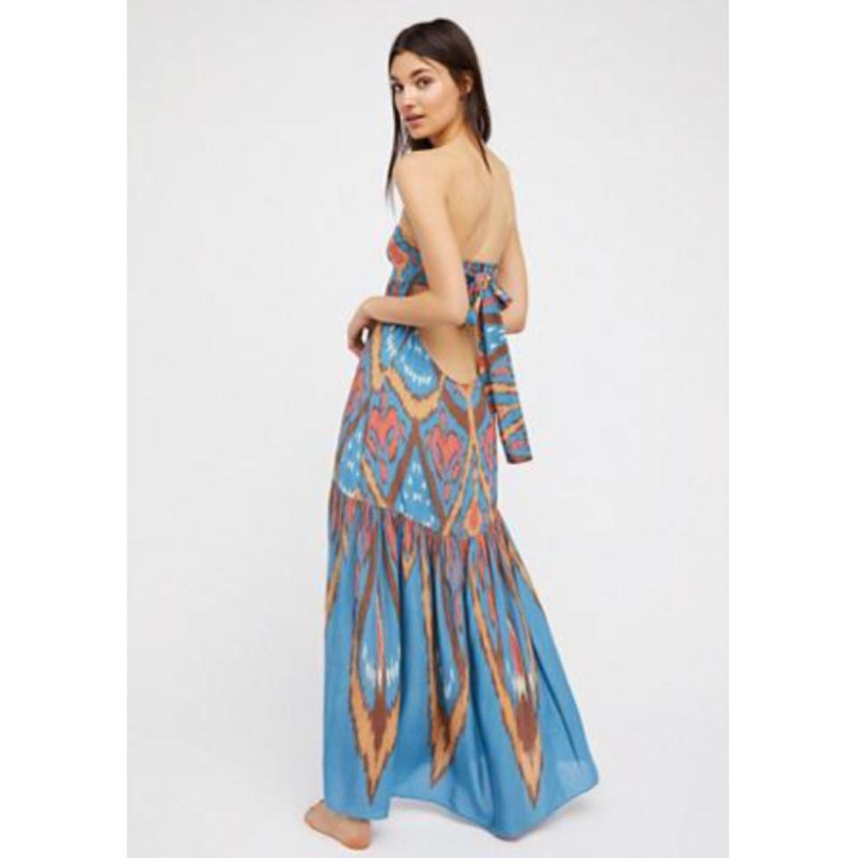 8b926cb13 Free People Multicolor Mohave Strapless Western Long Casual Maxi Dress Size  6 (S) - Tradesy